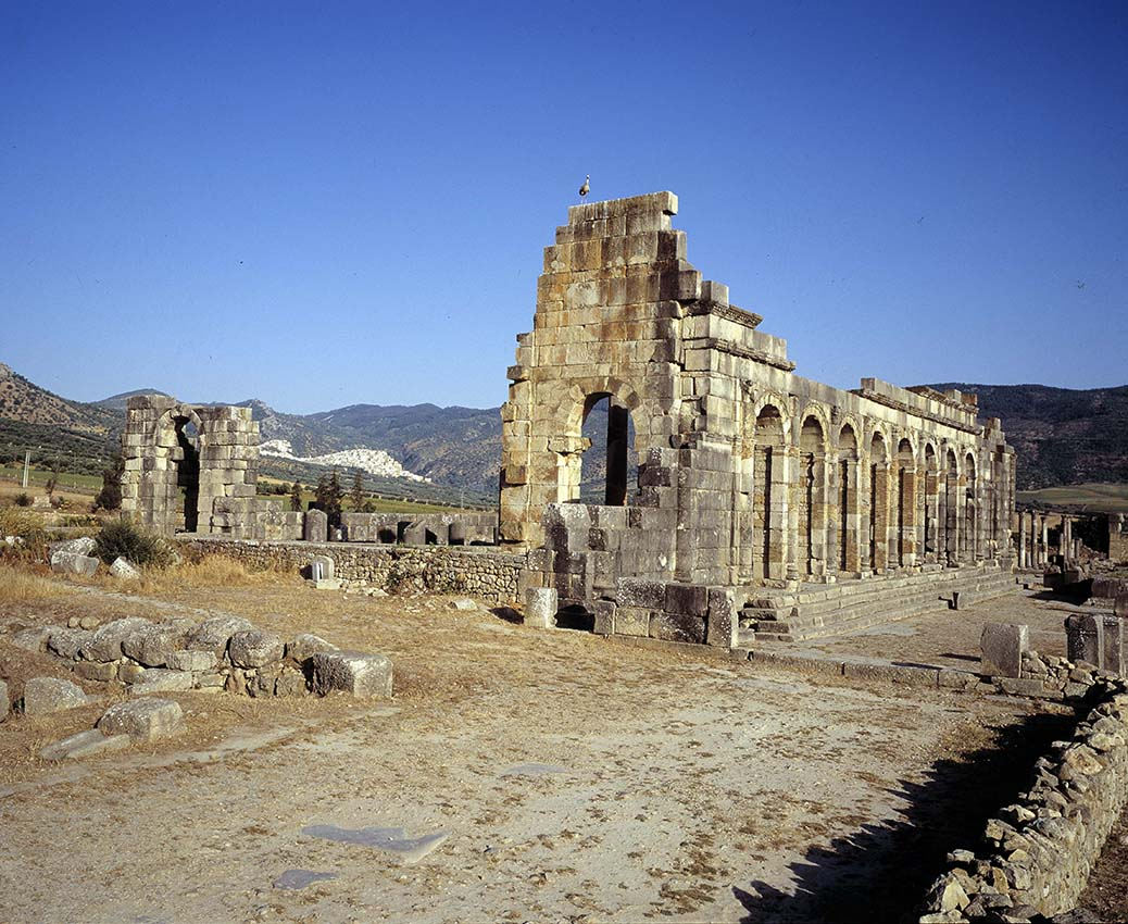 VOLUBILIS, RUINES DE ….